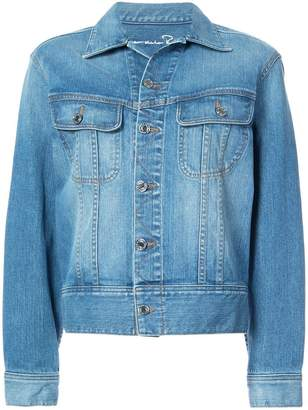 Oscar de la Renta appliquéd sequined denim jacket