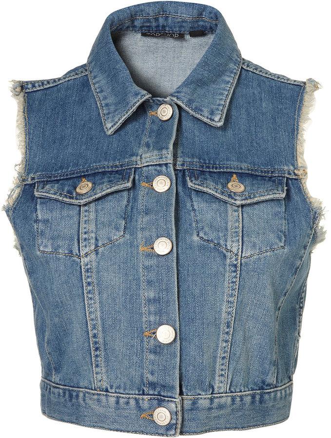 MOTO Vintage Sleeveless Jacket