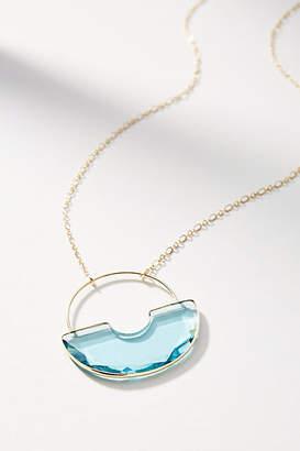 Anthropologie Glass Pendant Drop Necklace