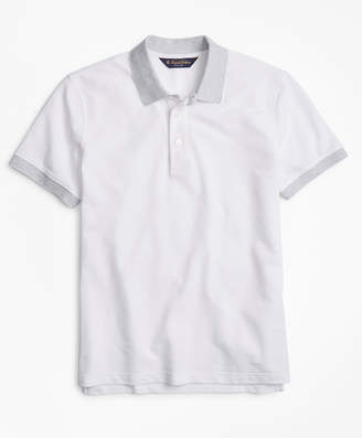 Brooks Brothers Original Fit Cotton and Linen Stripe Collar Polo Shirt