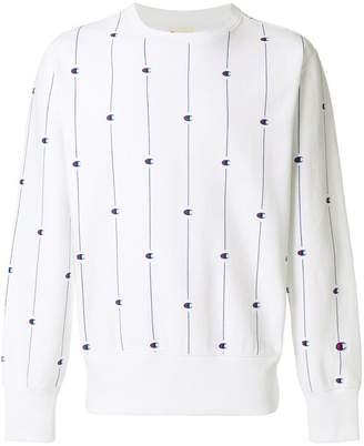 Champion all over print sweatshirt