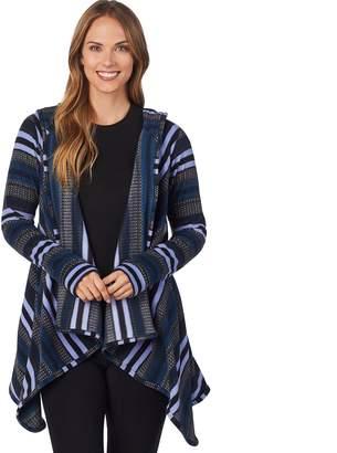 Cuddl Duds Women's Fleece Hooded Wrap Cardigan