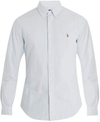 Polo Ralph Lauren Logo-embroidered striped cotton shirt