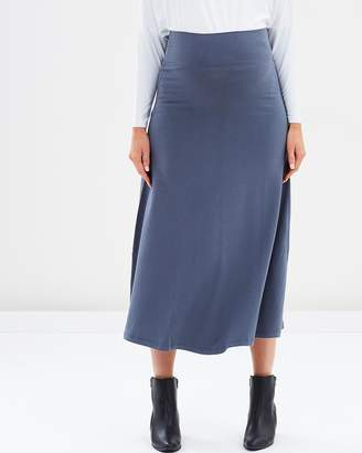 Bamboo Maternity Long Skirt