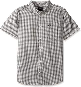 RVCA Men's Thatll Do Plaid 2 Short Sleeve Woven Shirt