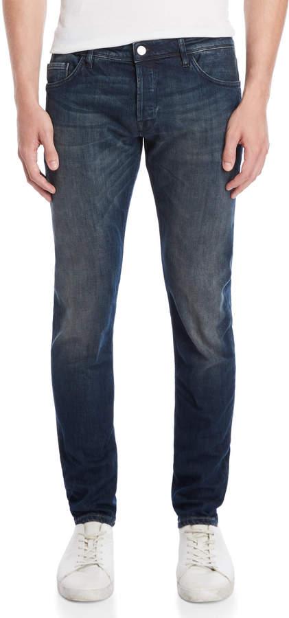 Patrizia Pepe Dark Wash Slim Tapered Jeans