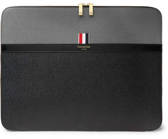 Thom Browne Colour-Block Pebble-Grain Leather Pouch