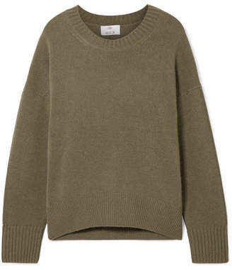 Allude Oversized Cashmere Sweater - Army green