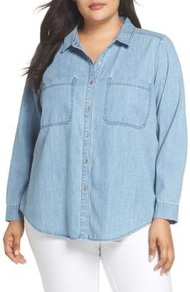 Eileen Fisher Organic Cotton Denim Shirt