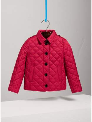Burberry Check Lined Diamond Quilted Jacket