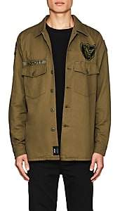"Schott NYC Perfecto Brand by PERFECTO BRAND BY MEN'S ""FLYING TENTH"" COTTON SHIRT JACKET-OLIVE SIZE XL"
