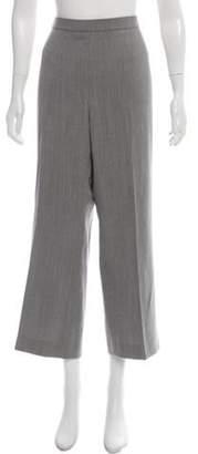 Akris High-Rise Wool Pants Grey High-Rise Wool Pants