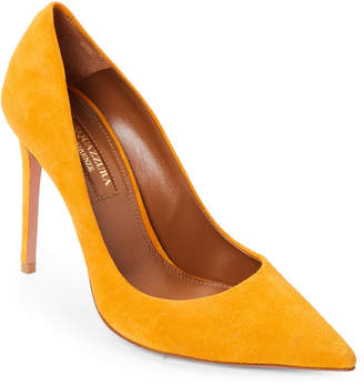 Aquazzura Amber Yellow Simply Irresistible Suede Pumps
