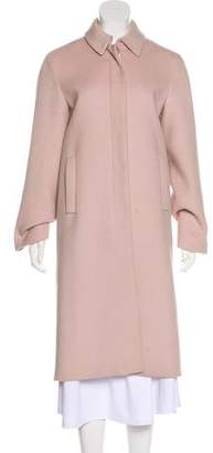 Calvin Klein Collection Wool And Angora Long Coat
