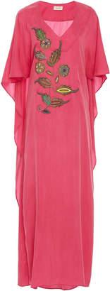 Jaline Olivia Hand-Embroidered Tencel Maxi Dress