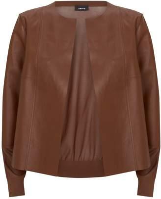 Akris Leather Cardigan