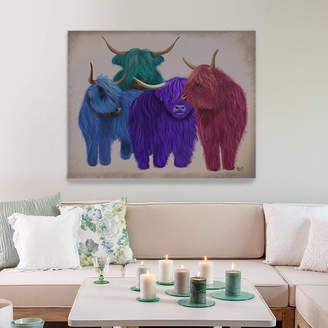 FabFunky Home Decor Highland Cows In Multicolours, Art Print