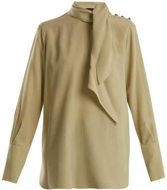 Joseph Geoff tie-neck silk blouse