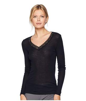 Hanro Woolen Lace Long Sleeve Shirt