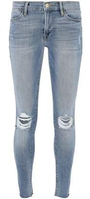 Frame Le High Distressed Crop Skinny Jeans