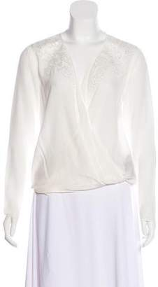 The Kooples Silk Embroidered Blouse w/ Tags