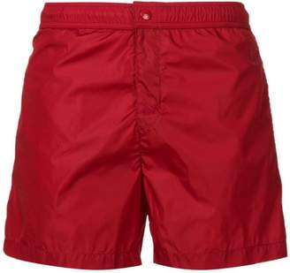 Moncler side stripe swim shorts