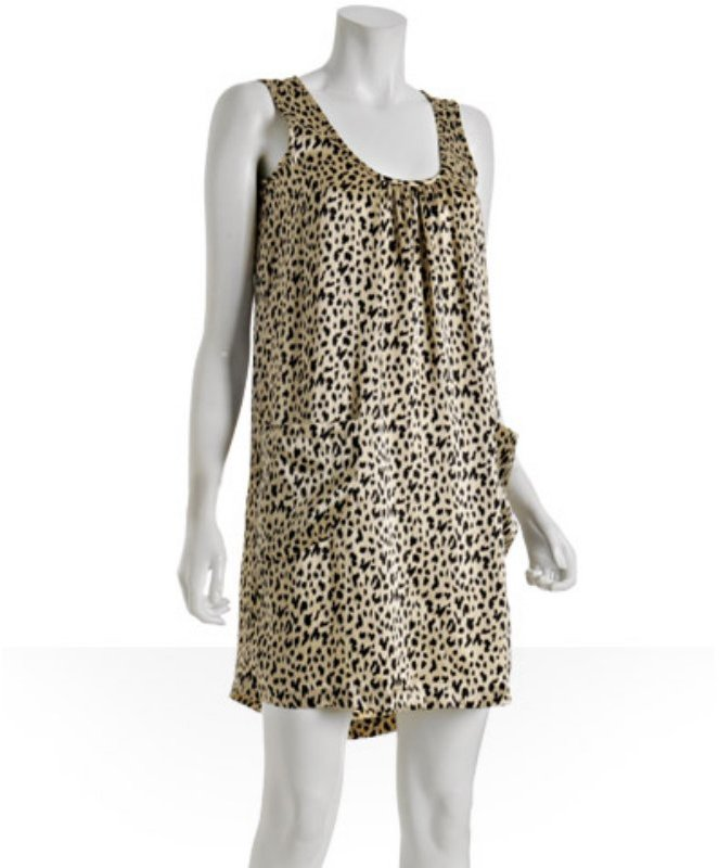 Cynthia Rowley leopard printed silk tank dress