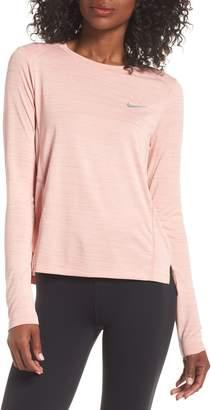 Nike Miler Long Sleeve Slub Tee