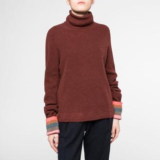Women's Damson Cashmere Roll-Neck Sweater $625 thestylecure.com