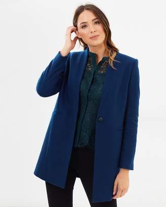 David Lawrence Chip Melton Revere Collar Tailored Coat