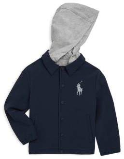 Ralph Lauren Toddler's, Little Boy's& Boy's Hooded Coaches Jacket