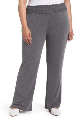 Caslon Off Duty High Rise French Terry Pants (Plus Size)