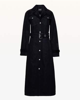 Juicy Couture Denim & Velvet Trench Coat