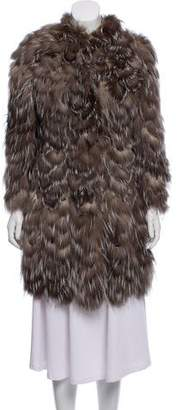 Burberry Leather & Fur Coat