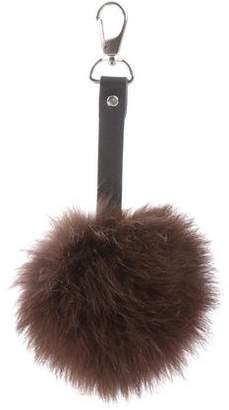 Fox Fur Bag Charm