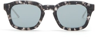Thom Browne Square Frame Sunglasses - Mens - Grey
