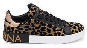 Dolce & Gabbana Dolce& Gabbana Dolce& Gabbana Women's Leopard Print Classic Sneakers