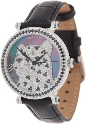 Judith Ripka Stainless Steel & Gemstone Leopard Watch - Lena