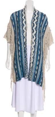 Calypso Fringe-Trimmed Knit Cardigan