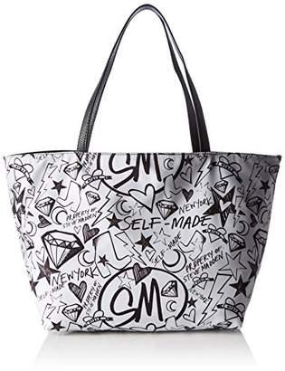 Steve Madden Bashton Handbag, Women's Mehrfarbig (Doodle Print), (B x H T)