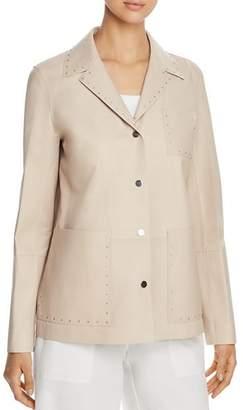 Lafayette 148 New York Jolisa Studded Leather Jacket