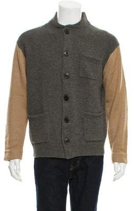 Dries Van Noten Woven Button-Up Cardigan