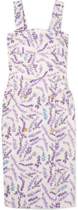 Max Mara Floral-print Cotton Dress - Lavender