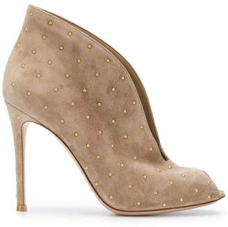 Gianvito Rossi studded open toe boots