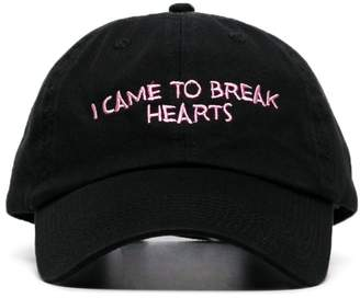 Nasaseasons black I Came To Break Hearts embroidered wool blend hat