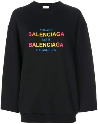 Balenciaga logo printed sweatshirt