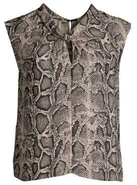 Rebecca Taylor Snake Print Silk Blouse