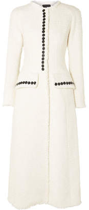 Alexander Wang Button-detailed Tweed Coat - Ivory
