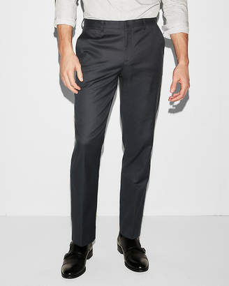 Express Classic Navy Oxford Stretch Cotton Dress Pant