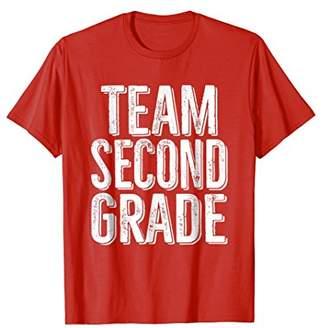Team Second Grade T-Shirt Support School Message